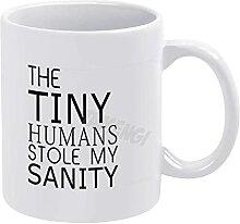 Tasse à café, les minuscules humains ont volé