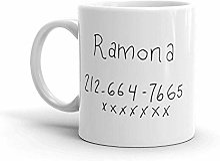 Tasse à café numéro Wow Girl - Ramona Flowers -