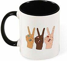 Tasse à café ou à thé en céramique - Motif
