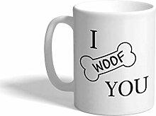 Tasse à café personnalisée 11 onces je vous