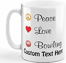 Tasse à café personnalisée 11 onces paix amour