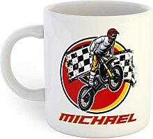 Tasse à café personnalisée de motocross Dirt