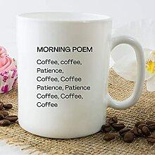 Tasse à café poème du matin