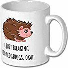 Tasse à café pour amoureux des hérissons,