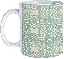 Tasse à café sans couture avec motif floral