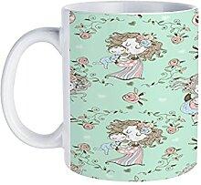 Tasse à café sans couture motif sur le thème de