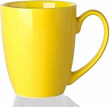 Tasse à café simple en céramique de couleur