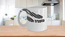 Tasse à café, tasse à thé, coucou pour crypto