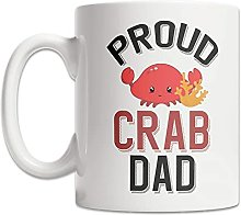 Tasse à café Tasse de papa crabe fier Tasse de