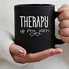 Tasse à café thérapeutique noire en céramique