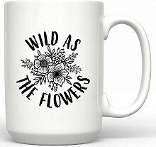 Tasse à café Wild As The Flowers Hippie Lover