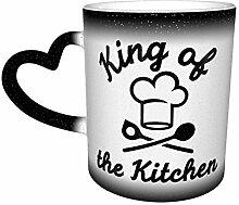 Tasse à changement de couleur King of The Kitchen