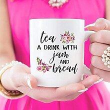 Tasse à thé en céramique avec inscription «