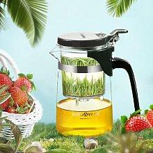 Tasse à thé en verre filtre, théière