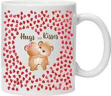 Tasse à thé et café avec inscription « Hugs
