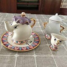 Tasse à théière, tasse de la Belle et la Bête,