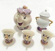 Tasse à théière, tasse et tasse Mrs Potts,