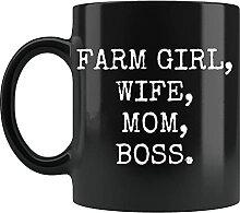 Tasse avec inscription « Farm Girl » - Cadeau de