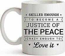 Tasse café céramique tasse thé Juge de paix