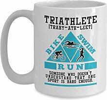 Tasse café céramique tasse thé Triathlete Swim