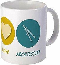Tasse d'architecture d'amour de paix en