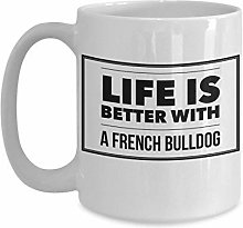 Tasse de bouledogue française pour les