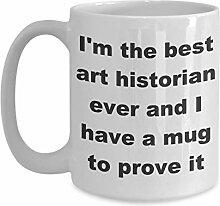 Tasse de cadeau d'histoire de l'art Je