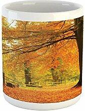 Tasse de forêt, scène de forêt d'automne