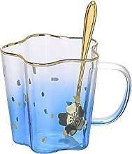 Tasse De Lait De Café En Verre Bleu Rouge