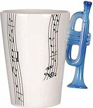 Tasse de musique 10,1 oz Notes de musique Design