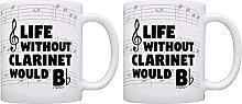 Tasse de musique sarcastique Life Without Clarinet