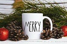 Tasse de Noël tasse en céramique inspiré joyeux