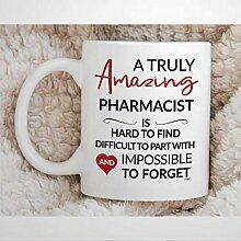 Tasse de pharmacien pour la retraite de pharmacien