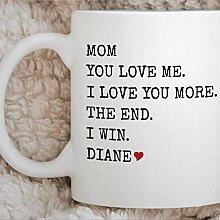 Tasse de tasse de café drôle de jour de mère de