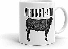 Tasse de thé de café de trafic du matin à la