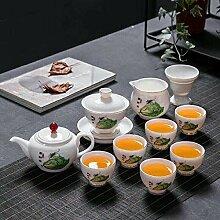 Tasse de thé tasse de thé bleu et blanc peint à