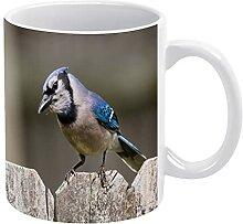 Tasse en céramique avec inscription « A Blue Jay