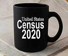 Tasse en céramique du recensement 2020 tasse à