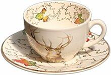 Tasse et soucoupe à thé Chambord faïence