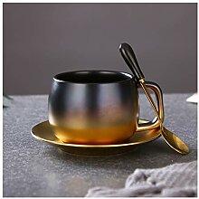 Tasse Gradient d'or en céramique Tasse de