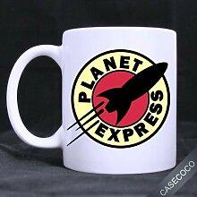 Tasse personnalisée Planet Express en céramique
