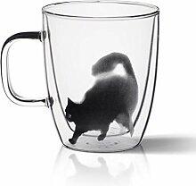 Tasse Tasse à café en verre double, tasse de
