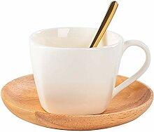 Tasse Tasses à café en porcelaine blanche de 6,8