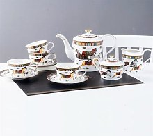 Tasses à café en porcelaine porcelaine, os de