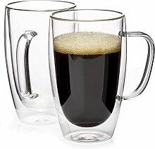 Tasses à café isolées 16oz, tasses à thé en