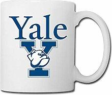 Tasses blanches uniques et cool de Yale