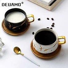 Tasses marbré en céramique, pour café