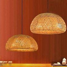 Tatami japonais lampe en bois rotin abat-jour