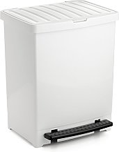 TATAY 1101201 Poubelle A PEDALE 25 litres Blanc,