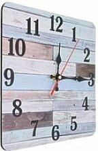Tbest Horloge murale en bois Horloge murale Style